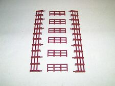 Lionel 1877 Chocolate Brown 8 Piece Fence Kit for Flatcar w/ 6 Horses NOS EX!