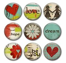 BE YOU - Love, Dream and Hope, 9 Magnet Set in Gift Tin