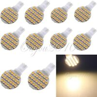 10x T10 194 921 W5W 24 SMD LED Warm White RV Landscaping Wedge Light Lamp Bulb