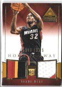 2014-15 PANINI PARAMOUNT JAMES ENNIS RC /25 Home & Away PATCH Miami Heat NBA SP!