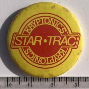 Vtg skateboard kryptonics star trac Promo 32mm Pin Badge Skateboarding
