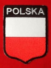 POLSKA POLAND POLISH NATIONAL COUNTRY FLAG BADGE IRON SEW ON PATCH CREST