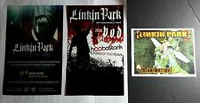 LOT OF 3PCS LINKIN PARK TOUR PROJEKT REVOLUTION 5.5x8.5 MUSIC PROMO POSTER FLYER