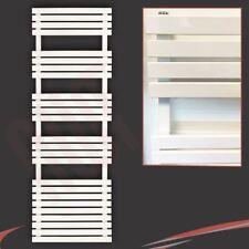 """500mm (w) x 1742mm (h) """"solaire"""" blanc slimline designer porte-serviettes - 1731 btu"""