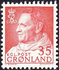 Greenland - 1964 - 35 Ore Dull Red King Frederick IX # 56 Mint NH Very Fine Nice