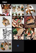 """Eden"" Wolf Fursona Furry Character OC Digital Art, Fursuit Cosplay"