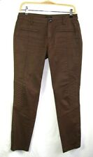 IKKS - PANTALON COUPE SLIM COTON MARRON OCRE ASPECT ENDUIT TAILLE 26 = 36 - TBE