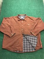 Vintage Carhartt Mens Rust Canvas Chore Shirt Jacket with Flannel Lining 4XL