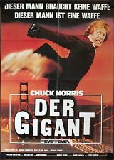 An Eye for an Eye Der Gigant German movie poster Chuck Norris, Jeffrey Bannister