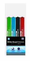 Coloured White Board Marker Set 4-Pack School Home Office