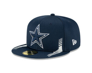 Dallas Cowboys New Era 2021 NFL Sideline Home 59FIFTY Fitted Hat - Navy