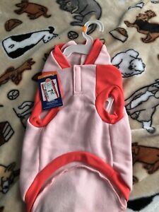 Pink Dog Hoodie Sweatshirt shirt with Poop bag pocket Size medium. NWT.Clearance