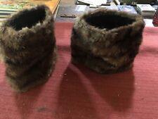 Matching Antique/Vintage Fur Hand Muff Wristlets
