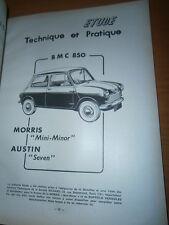 BMC 850 Austin Morris MINI : revue tech RTA 182