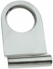 Polished Chrome Victorian Rounded Yale Lock Surround / Door Pull (BC106)