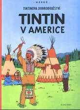 Tintin en Amérique Hergé album Tchèque Originale CZECH langue étrangère Edition