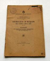 Ferrovie - Servizio d'acqua nelle stazioni e lungo le linee - 1^ ed. 1907
