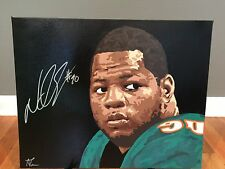 1/1 Ndamukong Suh Signed 16x20 Original Painting Miami Dolphins COA 1 of 1!