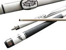 Champion Spider White Snake Skin Billiards Maple Cue,White Pool case, Glove