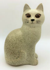 Lisa Larson Studio Gustavsberg Sweden Ceramic Pottery Cat Murre Grey Speckled