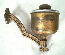 Unusual Wall Mount Glass Oil Lamp Sconce And Bracket