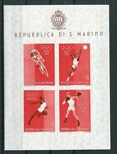 OLYMPIC GAMES 1960 ROME Stamps SAN MARINO IMPERFORATED MINIATURE SHEET #2 -ATZ