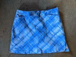 Ativa Golf Blue Designed Skort Size Women's pockets sz 16 EUC