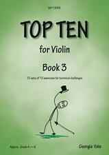 Top Ten Book 3- Grade: 4 - 6; Georgia Vale, VIOLIN STUDIES, SP1333