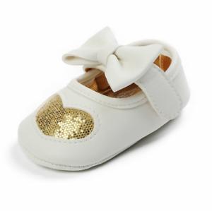 Baby Girls Mary Jane Bowknot Lovely Shape Wedding Princess Dress Prewalker Shoes