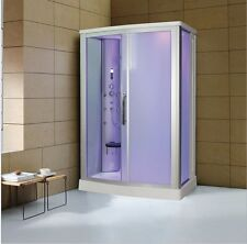 "EAGLE BATH 54"" Eagle Bath WS-803L-FG Steam Shower Enclosure Unit (Frosted Glass)"