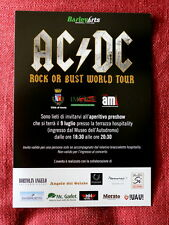 AC/DC promo IMOLA SOLD OUT  Pre Show Party invitation flyer Hard Rock Angus