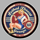 PIN UP GARAGE V8 USA HOT ROD AUTOCOLLANT STICKER AUTO PB471