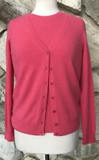Repeat Cashmere Pink 100% Cashmere Twinset Top & Button Cardigan Sweater XS