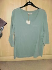 M & S Indigo Cotton T-Shirt Top BNWT Size 16
