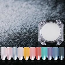 1Box Diamond Pearl Nails Glitter Mermaid Powder Shining White Pigment DIY Decor