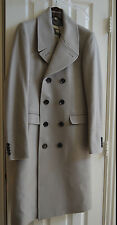 New BURBERRY Men's Double-Breasted 100% Cashmere Kerfield Long Coat UK46/Small
