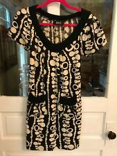 Black and Cream Dress with Pockets - Super Cute Size M/L Boutique Item