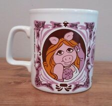 The Muppet Show Miss Piggy Purple Vintage Mug 1978 Made in England Henson Kiln