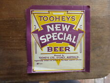 VINTAGE TOOHEYS SYDNEY, NSW NEW SPECIAL BEER DRINK LABEL