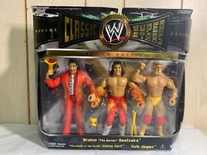 WWE Hulk Hogan Jimmy Hart Brutus Beefcake Classic Superstars 3-Pack NEW WWF RARE