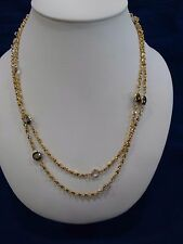 REAL COLLECTIBLES BY ADRIENNE CHAIN STATION NECKLACE GOLD TONE
