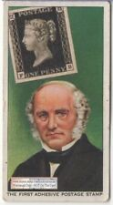 British 1840 Penny Black First Adhesive Postage Stamp 1930s Trade Ad Card