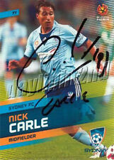✺Signed✺ 2013 2014 SYDNEY FC A-League Card NICK CARLE