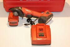 Hilti-AG125-A22 Smerigliatrice Angolare a Batteria IN Valigia Garanzia Conto 2 X
