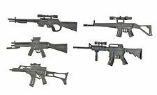"""FIG-WP-5X: FIGLot 1/12 Scale Rifle Guns (5 Pack) for 6"""" Marvel Deadpool Punisher"""