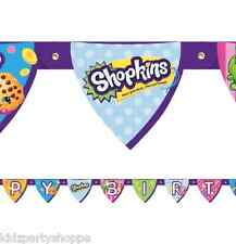 SHOPKINS Jointed Happy BIRTHDAY BANNER Party Supplies Décor Decorations Prop