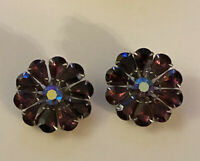 Vintage Juliana Purple Rhinestone Earrings
