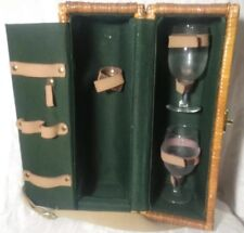 Picnic Time Basket & Glasses Bacchus Thermo Insulated Rattan Core Adj Strap