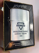 ARMCO STEEL- ZIPPO LIGHTER SAFTY AWARD - Middletown Works QUARTERLY RECORD 1965