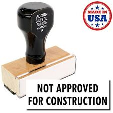 Acorn Sales - Not Approved For Construction Rubber Stamp